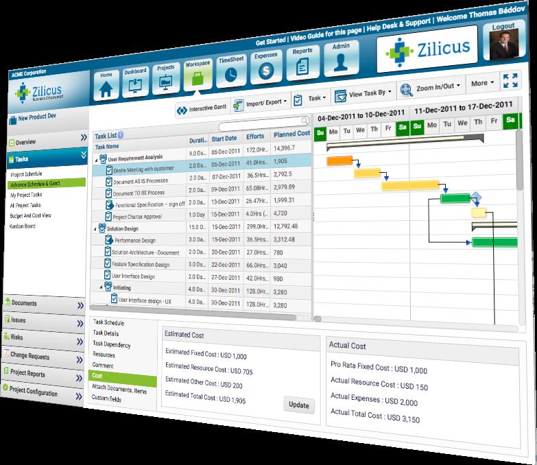 Task Management Software Gantt Chart Software Zilicuspm