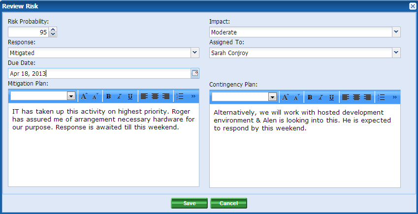 project contingency plan template .